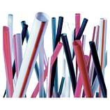 assortment of straws