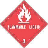Class 3 DOT Hazard Labels
