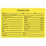 Urinalysis Labels for Veterinarians Offices