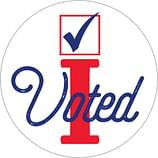 Patriotic Labels — Made in USA Stickers, Voting Stickers