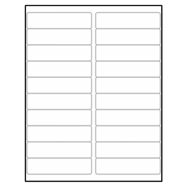 Laser Label Sheets – White and Colored Label Sizes